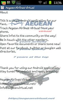 Aegean Airlines Virtual screenshot 5