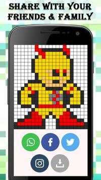 Superhero Coloring : Color By Number screenshot 11