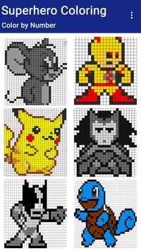 Superhero Coloring : Color By Number screenshot 1