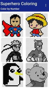 Superhero Coloring : Color By Number screenshot 6