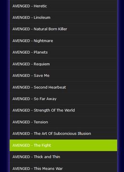 All Songs AVENGED Sevenfold Mp3 apk screenshot