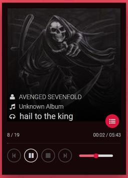 avenged sevenfold songs poster