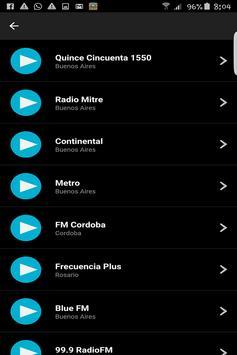 Emisoras de Radios Argentinas screenshot 1
