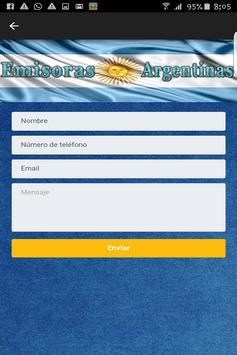 Emisoras de Radios Argentinas screenshot 3