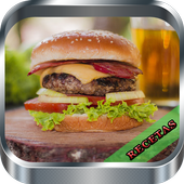 Recetas de hamburguesas icon