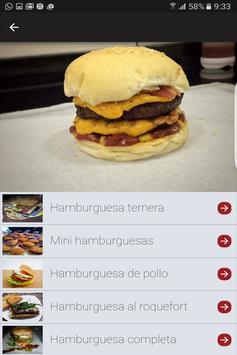 Recetas de hamburguesas screenshot 3