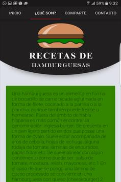 Recetas de hamburguesas screenshot 1