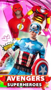 Ultimate Superhero Avenger Face Camera screenshot 6