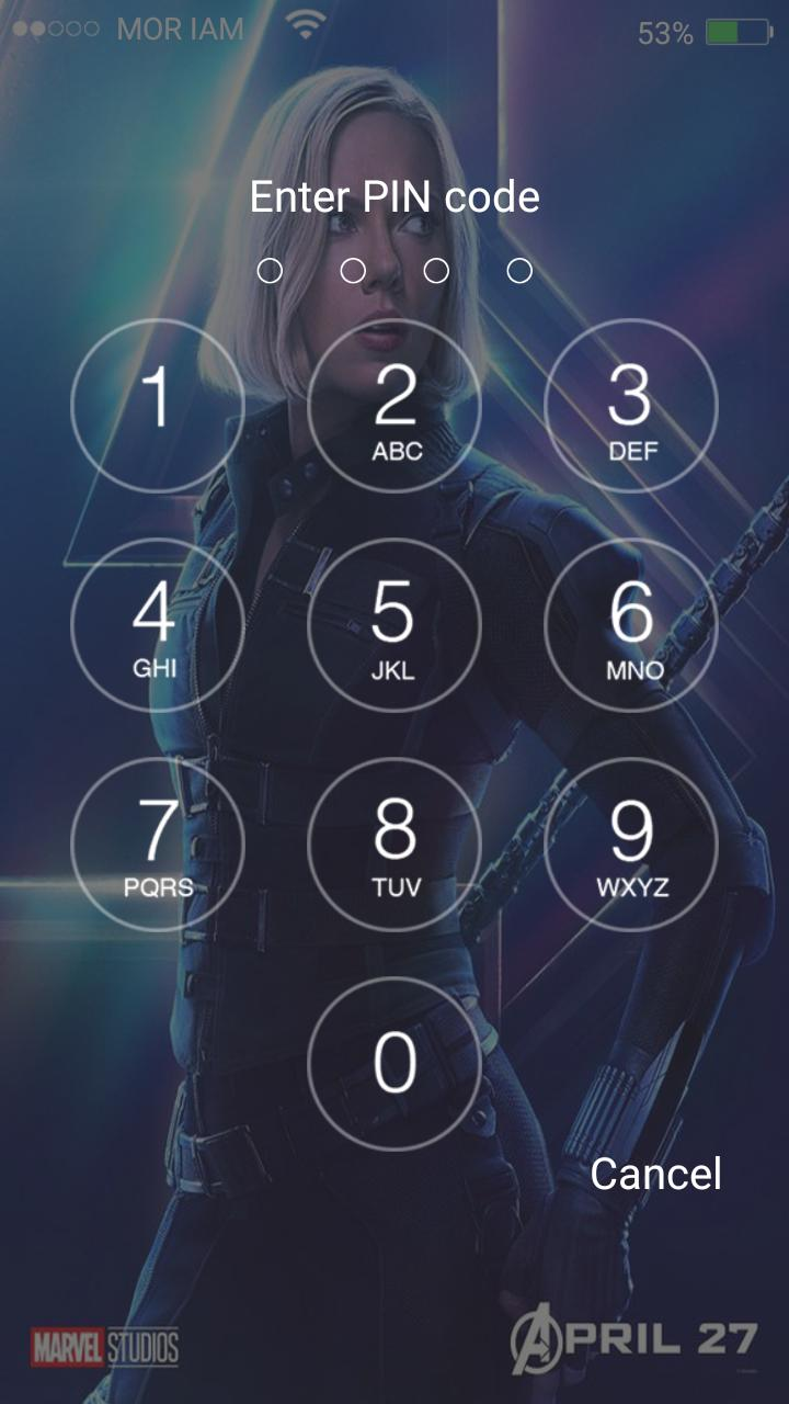 keyboard theme for avenger infinity war lockscreen for