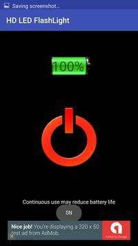HD LED FlashLight apk screenshot