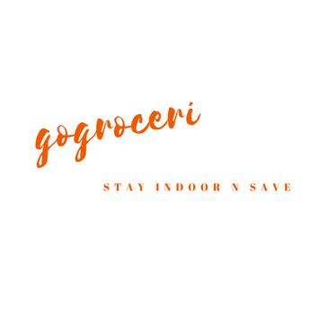 GOGROCERI- Stay indoors and save. poster
