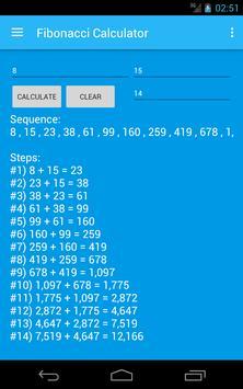 Fibonacci Calculator screenshot 2