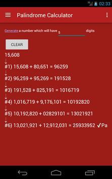 Palindrome Calculator apk screenshot