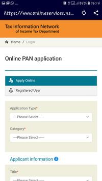 Nsdl pan card apply online apk download free business app for nsdl pan card apply online apk screenshot reheart Image collections