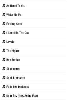 Avicii Lyrics apk screenshot