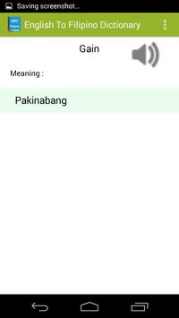 English To Tagalog Dictionary apk screenshot