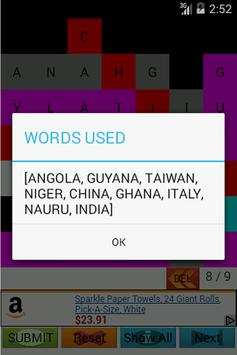 Find the Country: Word Search apk screenshot