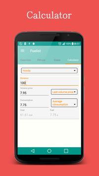 Fuel log & Cost Tracking app screenshot 4
