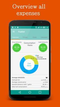 Fuel log & Cost Tracking app screenshot 1