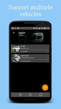 Fuel log & Cost Tracking app screenshot 2