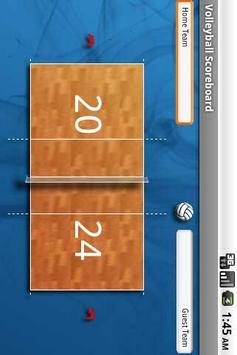 Volleyball Scoreboard Free screenshot 1