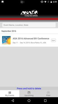 ASA Events apk screenshot