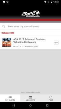 ASA Events screenshot 1