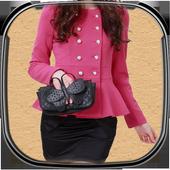 Woman Jacket Photo Suit icon