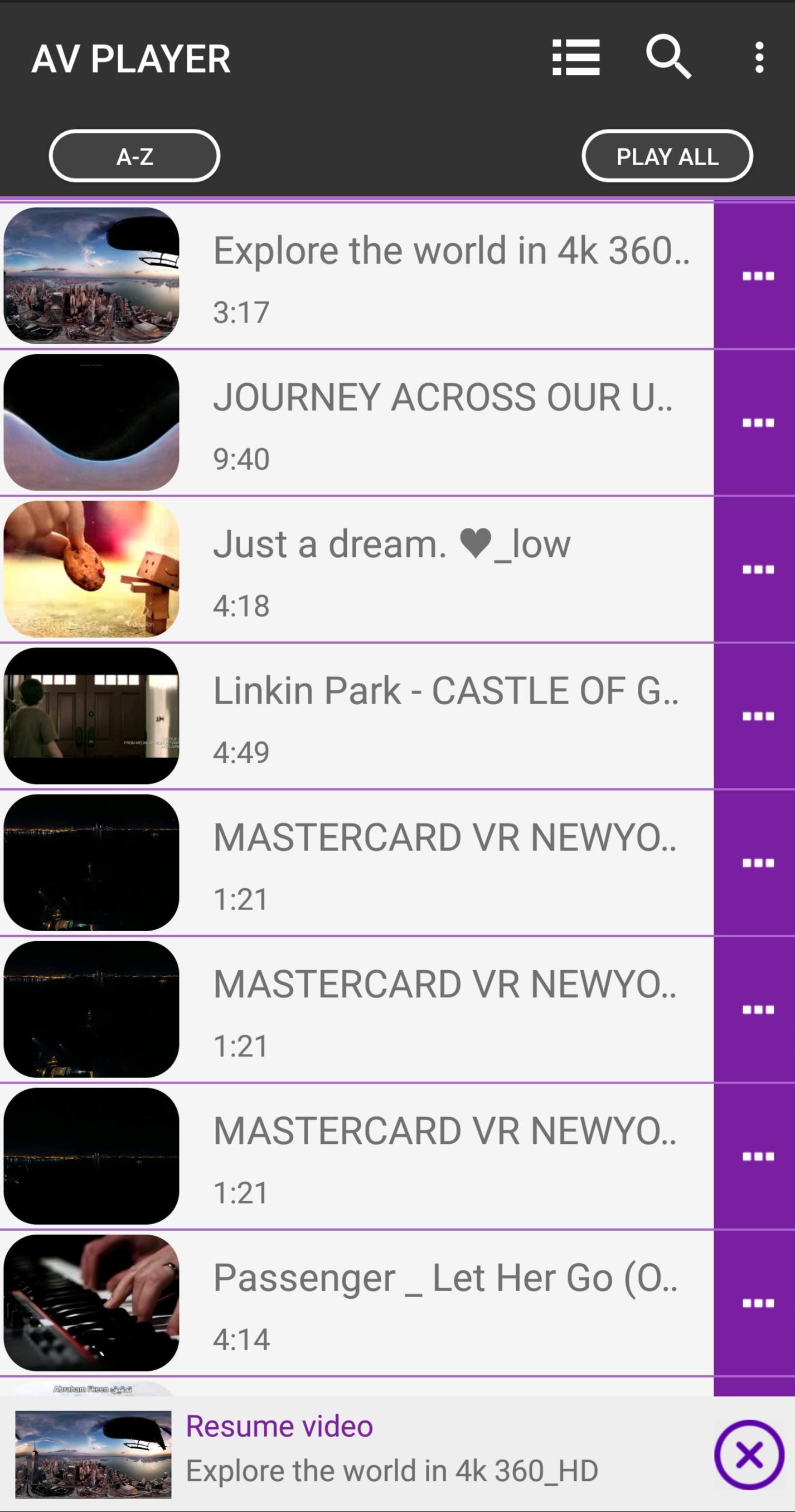 AV Player Lite - Music player & Video player for Android