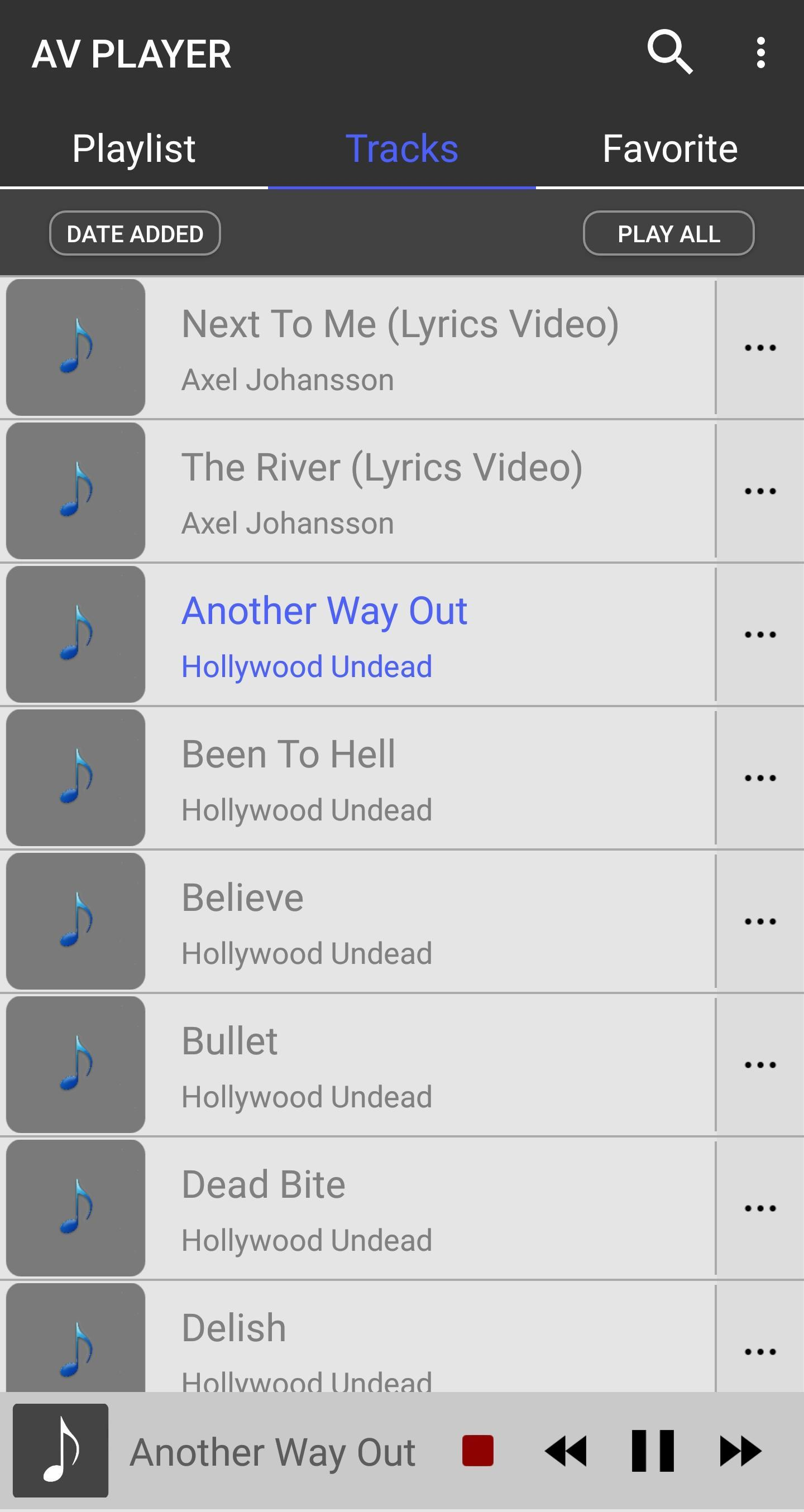 AV Player Lite - Music player & Video player for Android