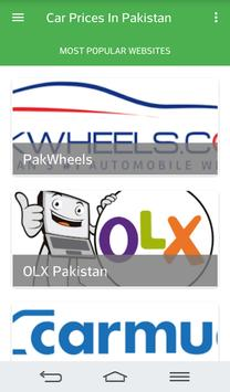Cars Prices in Pakistan poster