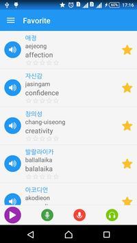 Từ vựng tiếng Hàn - Awabe apk screenshot