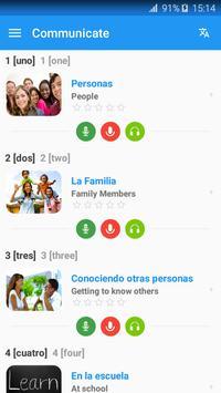 Learn Spanish communication & Speak Spanish daily poster