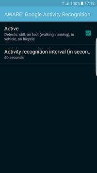 AWARE: Activity Recognition apk screenshot