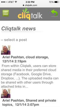 Cliqtalk apk screenshot