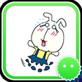 Stickey Big Face Rabbit icon