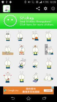 Stickey Big Face Rabbit poster