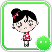 Stickey Beautiful Little Girl icon