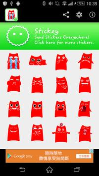 Stickey Red Cat poster