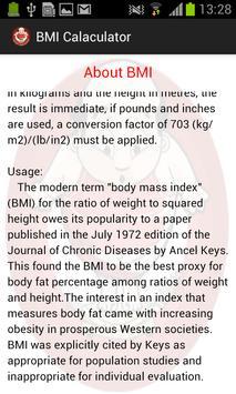 BMI Pocket Calculator screenshot 3