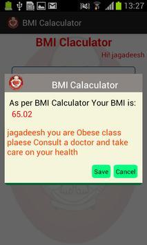 BMI Pocket Calculator screenshot 5