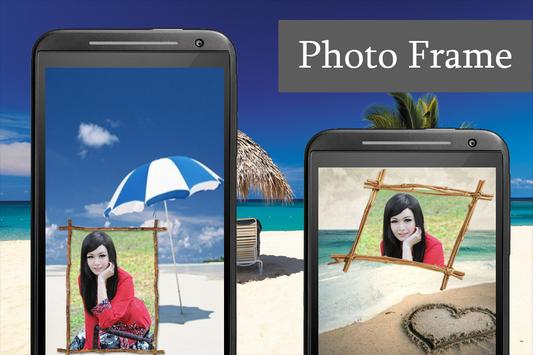 Beach Photo Frame poster