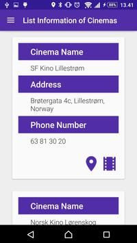 Firmu - The Cinema Locator app poster