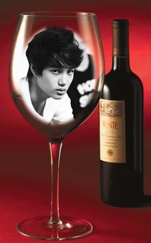 Wine Glass Photo Frame poster