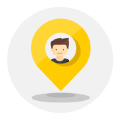 Mappy - Track friends & Places icon