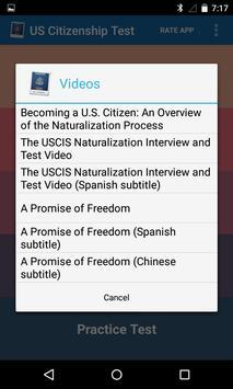 USCIS Ciudadanía de US Repaso captura de pantalla 1