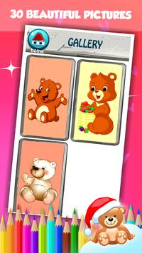 Cute Bear Coloring Book capture d'écran 15