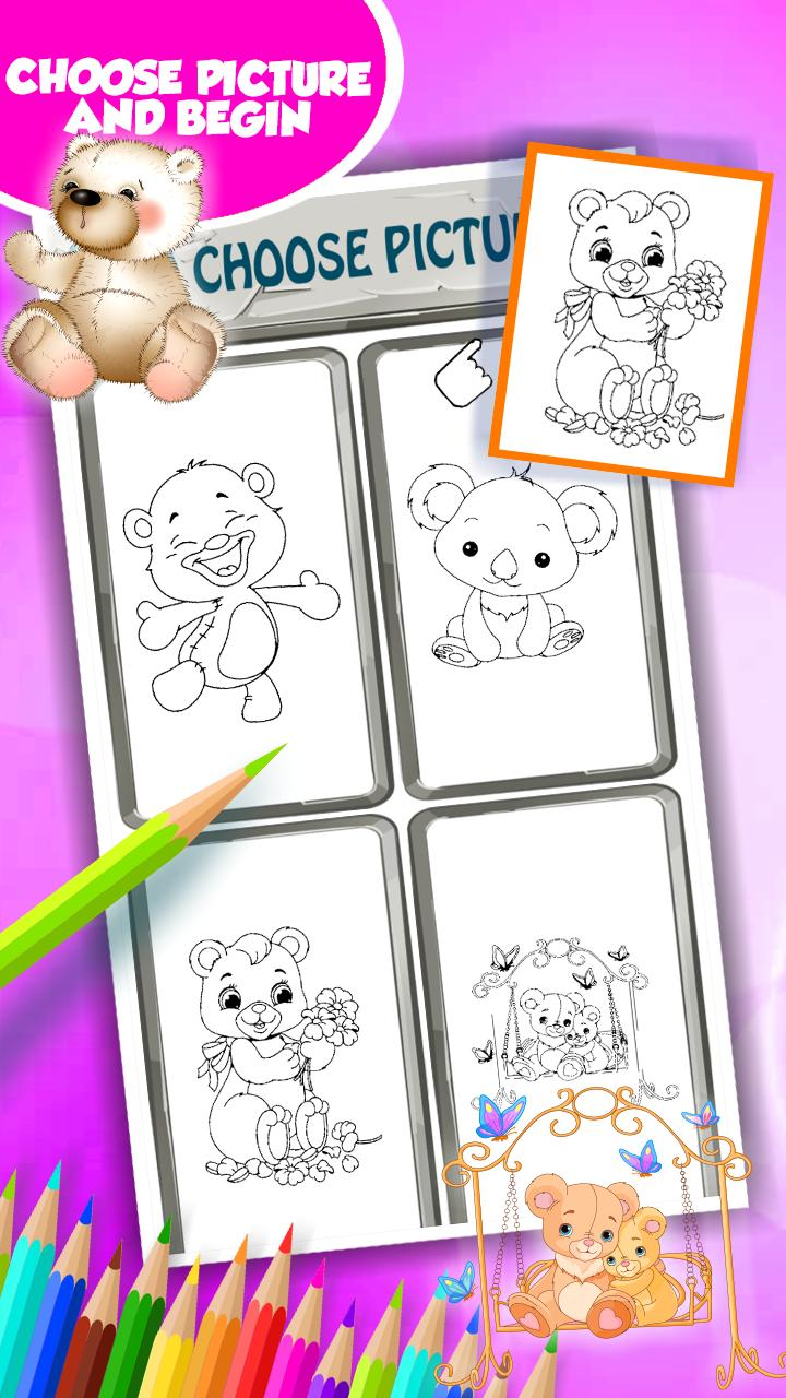 Lindos Osos Para Colorear For Android Apk Download