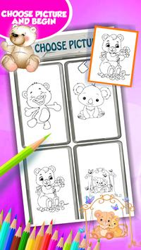 Cute Bear Coloring Book capture d'écran 2