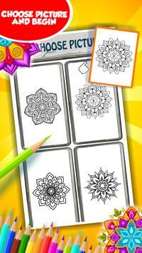 Flower Mandala Coloring Book Apk Screenshot